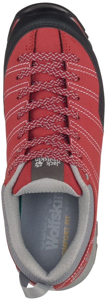 new arrival purchase cheap classic shoes Jack Wolfskin Scrambler Low Shoes Women red/light grey